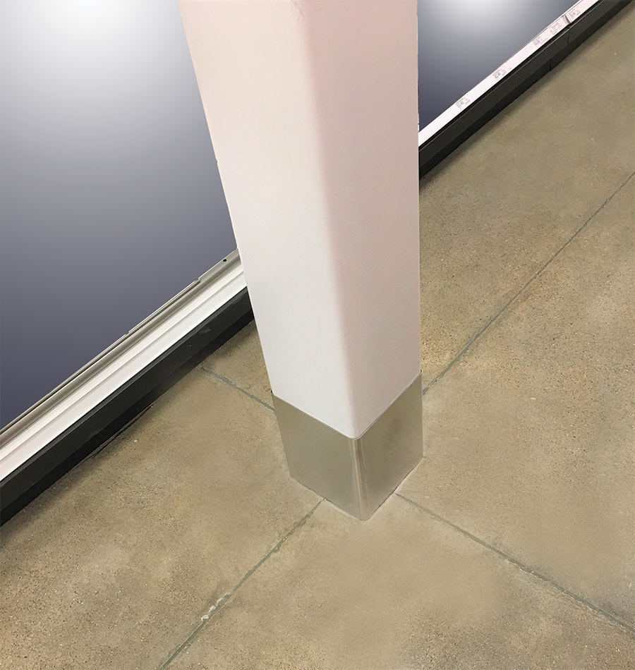 finished column using column socket